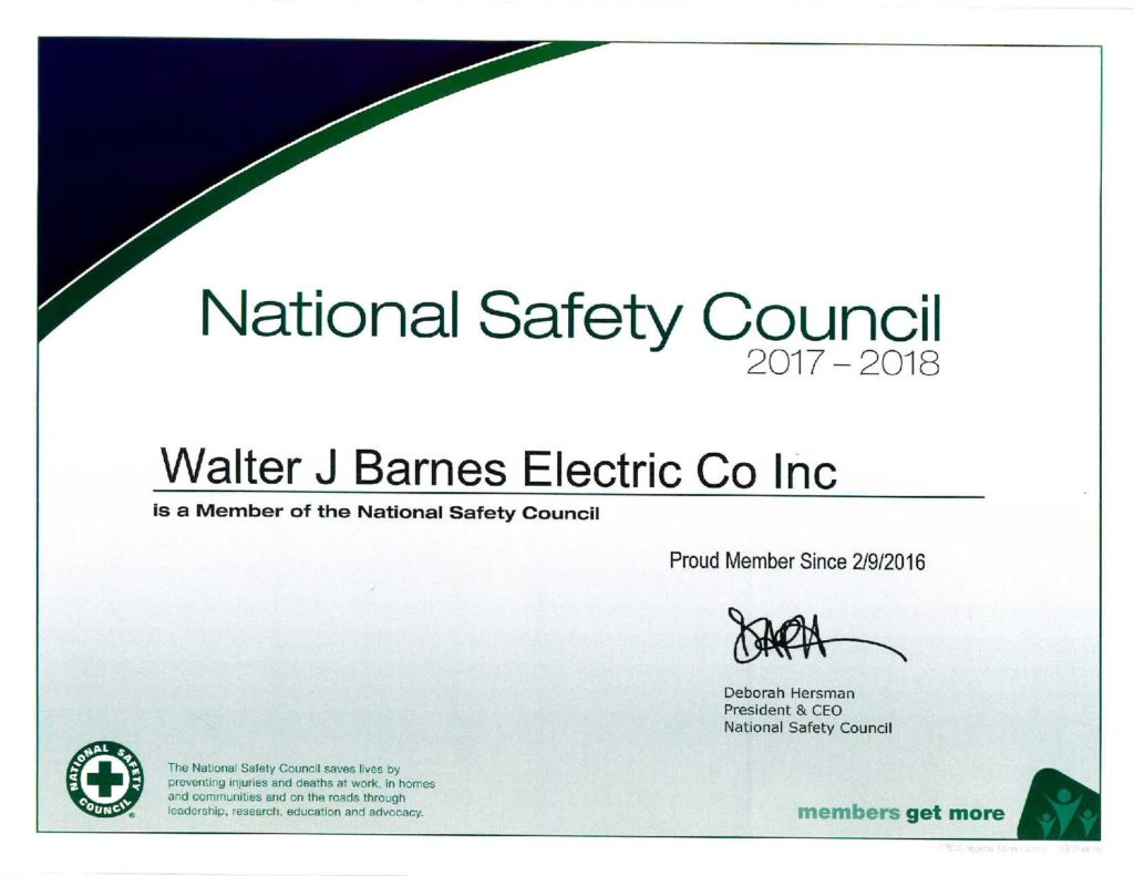 Safety walter j barnes electric safety xflitez Images